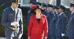 New Zealand Aviation Forces' Guard of Honour, June 3, 2015, Credentials ceremony of Romanian Ambassador Nineta Barbulescu at the Governor General House in Wellington.