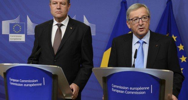 File photo. Juncker-Iohannis meeting in Brussels, January 2015