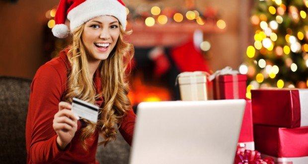 shopping online for Christmas.