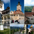 castles and medieval city in Transylvania