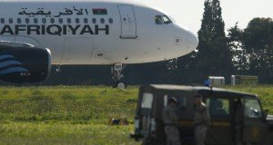 plane hijacked malta