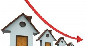 houses prices down