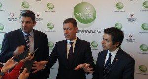 From L to R: Mustafa Korkmaz - General Manager of Yildiz Entegre Romania, Ismail Hakki Yildiz - CEO Yildiz Entegre, Osman Koray Ertaş - Turkish Ambassador to Romania