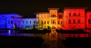 The Cotroceni Palace was lit in the tricolor on December 1. Presidency.ro