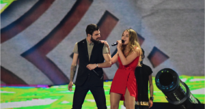 Ilinca Băncilă and Alex Florea, performing at Eurovision last year