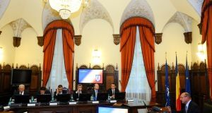 File photo: CSAT meeting chaired by former President Traian Basescu