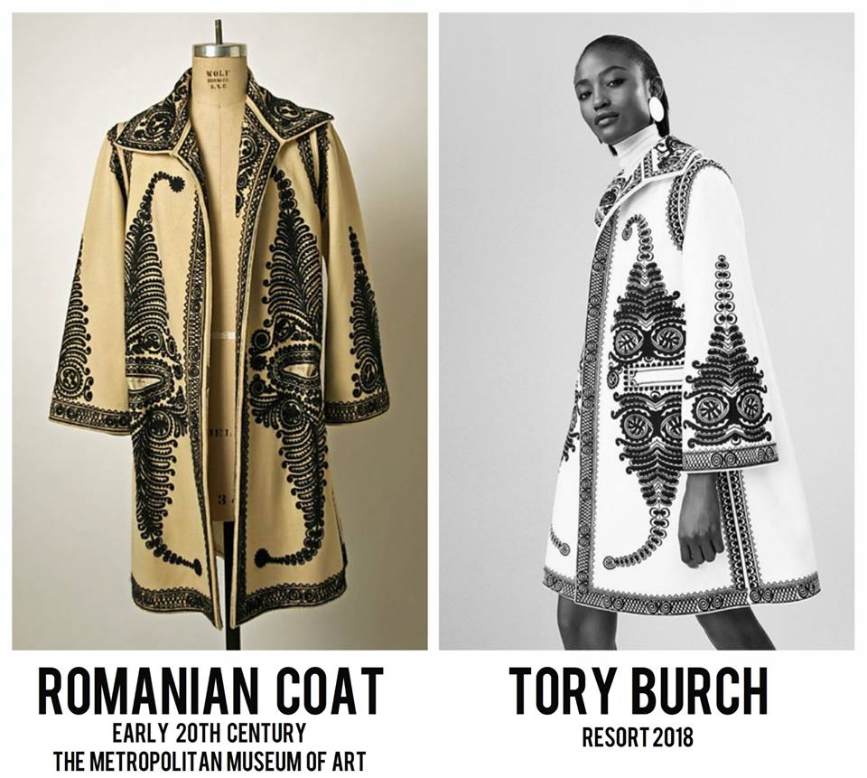 f136e2f196 Romanian traditional coat, copied by designer Tory Burch – The Romania  Journal